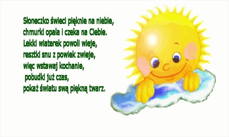 Słoneczko świeci Na Dzień Dobry Pobudka Gify I Obrazki Na