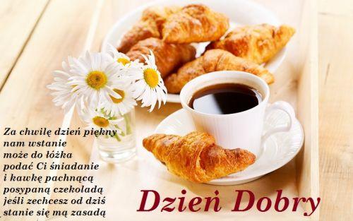 Dzień Dobry śniadanie Do łożka I Kawa Pachnąca Gify I