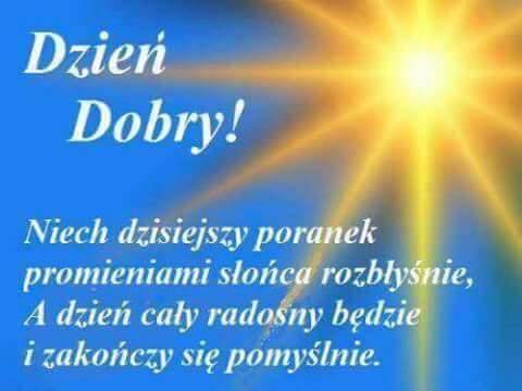 Dzień Dobry życzenia Słoneczko Gify I Obrazki Na Gifyagusipl