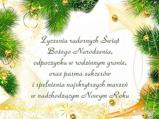 Piękna kartka z życzeniami na Boże Narodzenie - Życzenia na GifyAgusi.pl