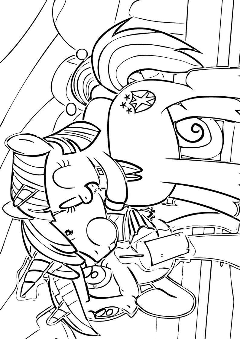 Kolorowanka Radosna Twilight Sparkle Wsrod Przyjaciol Kolorowanki My Little Pony Gifyagusi Pl