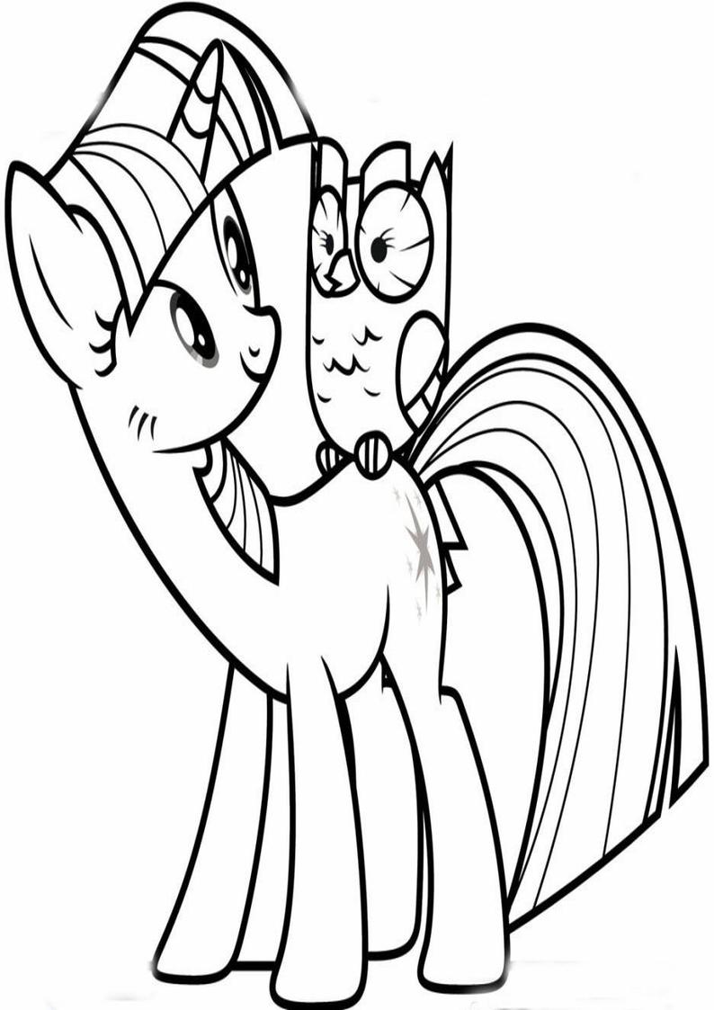 Kolorowanka Twilight Sparkle Rozmawia Z Sowa Kolorowanki My Little Pony Gifyagusi Pl
